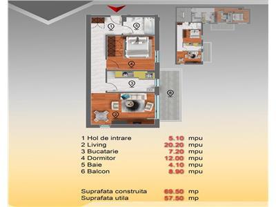 Apartament 2 camere et 1 sos chitilei str marmurei