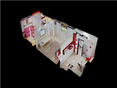 Tur virtual interactiv 3d ! apartament 2 camere, la cheie !