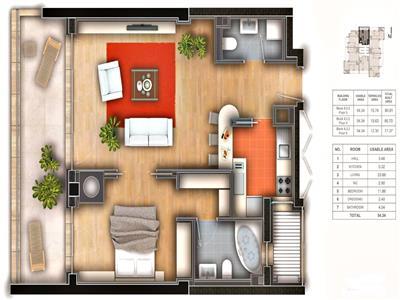 Apartament 2 camere, parcare subterana, Baneasa, Green Lake