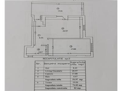Apartament 2 camere parter cu terasa 20 mp sos chitilei mezes