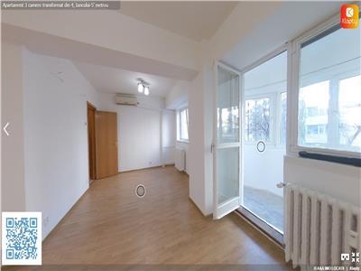 Apartament 3 cam. transformat din 4 Iancului 5' de metrou