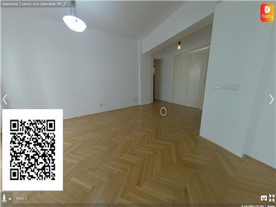 Apartament 3 camere(din 4)zona Universitate-KM,,0''