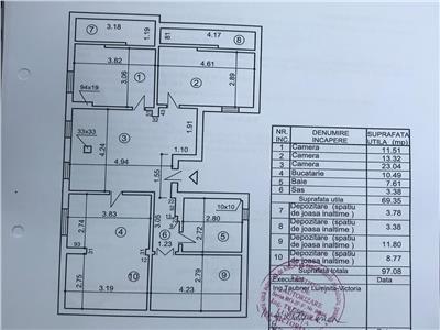 Apartament 3 camere mansarda bucurestii noi