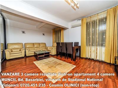 VANZARE 3 camere mobilat modern,vav de Arena Nationala,7 min metrou