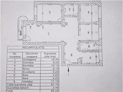 Apartament 4 camere de vanzare dristor zona metrou dristor 2