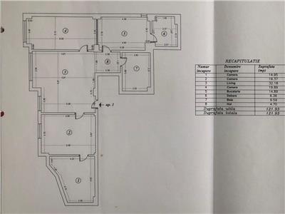 Apartament 4 camere 122 mp utili demisol damaroaia natatiei