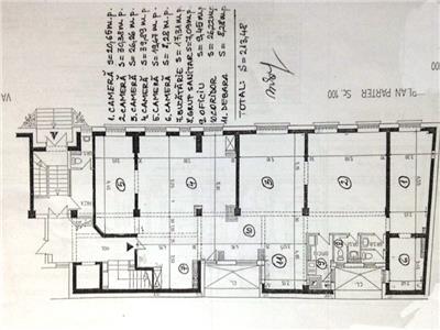 Apartament 6 camere, 210 mp,cu terasa interioara,zona kiseleff Bucuresti