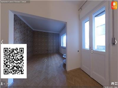 Apartament 4 camere,zona P. Romana-L. Catargiu