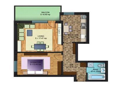 Apartament cu 2 camere de vanzare bloc nou Chiajna