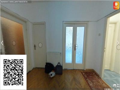 Apartament cu 3 camere,zona Foisorul de Foc,tur virtual