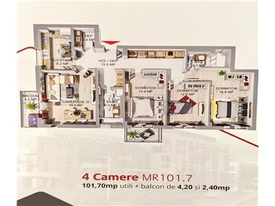 Apartamente cu 2 3,4 camere de vanzare in complexul maurer rezidence