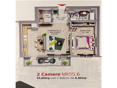 Apartamente cu 2  camere de vanzare in complexul maurer rezidence