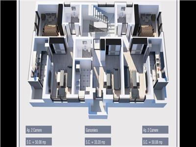Apartamente si garsoniere in militari residence, direct dezvoltator