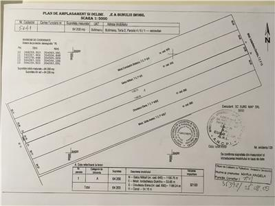 Butimanu DB 10 hectare agricol 3 parcele 6,42 ha  2,4 ha 1,2 ha