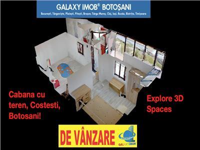 Cabana cu teren, costesti! tur virtual 3d !