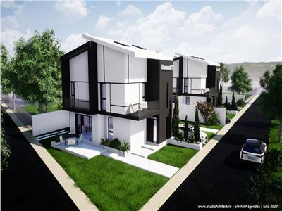 Casa tip Duplex de vanzare Tunari 4 camere P+1+M- curte libera 180 mp