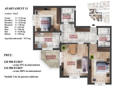 Apartament cu 3 camere, Vitan, 5 minute metrou!