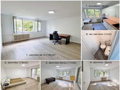 Apartament 4 camere decomandat Lujerului 7min. metrou partial mob. ADP