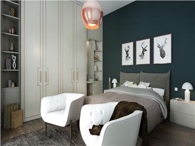 Apartament 3 camere, tip duplex, curte 51mp.