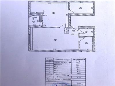 Apartament 3 camere 2 bai 96 mpu biserica bazilescu