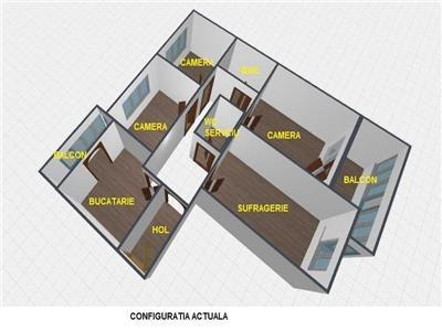 Vanzare apartament 4 camere , 95 mp ,etaj 7, zona Iancului