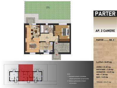 Apartament in vila -2 camere si gradina