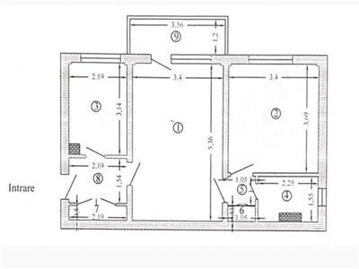 Apartament 2 camere Bld Basarabia