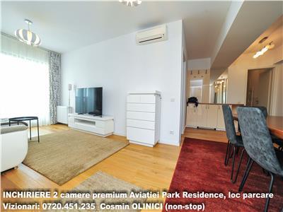 Inchiriere 2 camere premium Aviatiei Park Residence, parcare subterana