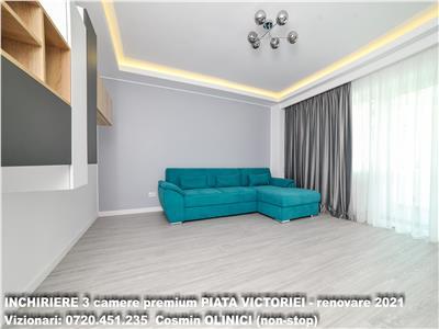 INCHIRIERE 3 camere decomandate PIATA VICTORIEI (Pasaj), premium