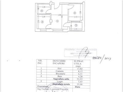 Apartament 2 camere 36 mpu et 2 Sos Chitilei str Racordarii