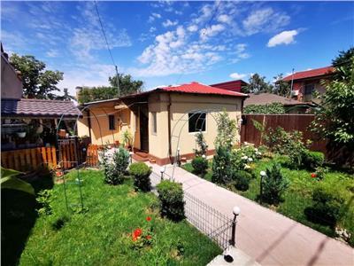 Casa pe un nivel de vanzare, teren 450 mp, curte frumoasa, vecini buni