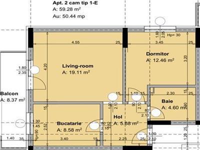 Vanzare apartament 2 camere fundeni dobroesti str piersicului