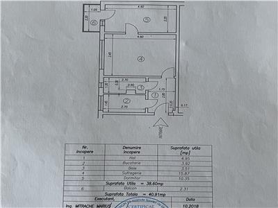 Vanzare apartament 2 camere, semidecomandat, zona Malul Rosu, Ploiesti