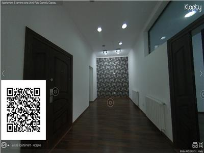 Apartament 3 camere + receptie zona Unirii-Piata Corneliu Coposu