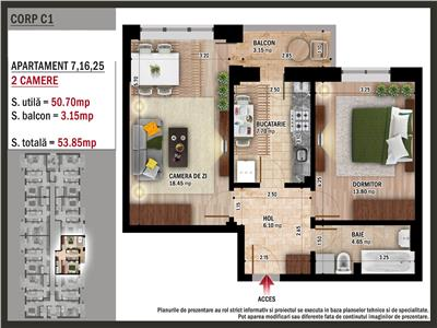 Apartament 2 camere- popesti leordeni