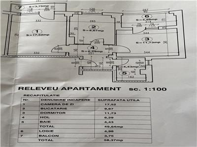 Vanzare apartament 2 camere, decomandat, zona Cantacuzino, Ploiesti.
