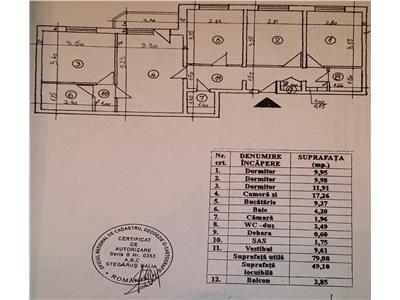 Vanzare apartament 4 camere metrou obor