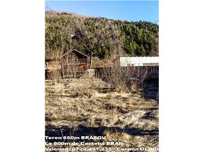 TEREN localitatea BRAN ( Jud. Brasov), situat la 800m de Castelu Bran