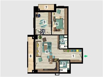 Vanzare apartament 3 camere in bloc nou, ploiesti, zona centrala