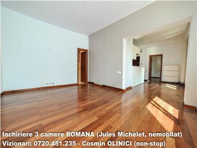 Inchiriere 3 camere ROMANA (Jules Michelet, Ambasada UK)