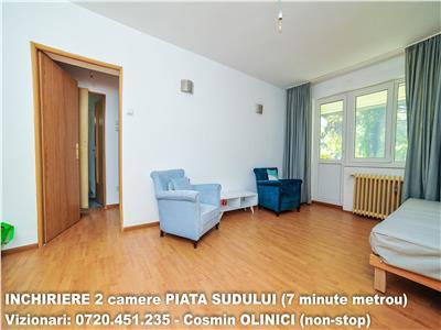 Inchiriere 2 camere  PIATA SUDULUI (7 minute metrou)