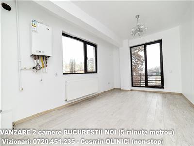 VANZARE 2 camere decomandate bloc nou BUCURESTII NOI - 5 minute metrou