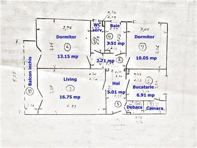 Ap. 3 cam., 2 bai, decomandat, Titan - Parcul C-tin Brancusi