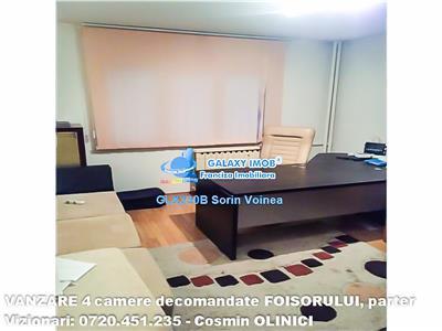 Apartament 4 camere decomandat str.Foisorului, pentru birouri/locuinta