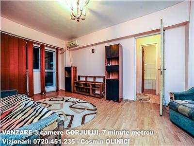 VANZARE apartament 3 camere GORJULUI, 7 minute metrou