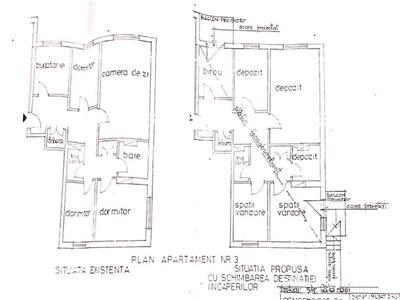 Apartament 4 camere, balcon intabulat, cantacuzino, ploiesti