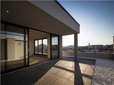 Penthouse 4 camere herastrau vedere libera terasa 100 mp