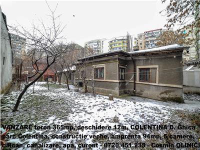 VANZARE teren 365m cu casa veche COLENTINA - Parc Plumbuita, desch.12m
