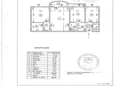 Vanzare apartament 3 camere Metrou Dristor