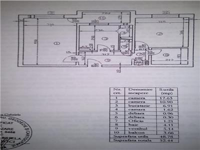 Vanzare apartament 2 camere etaj 1, decomandat , zona Basarabia